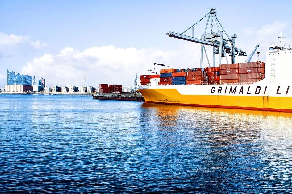 Transport von Seefracht